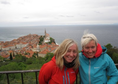 Slovenia Ladies MTB Day 4 Piran Castle Anita and Nikki