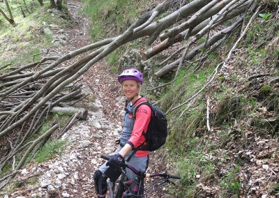 Slovenia Ladies MTB Day 2 Leafy Woodland Descent Anita