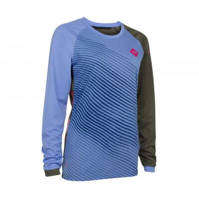 ION bike womens mtb long sleeve cycling jersey Scrub_AMP powder blue