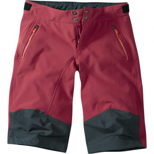Madison Flo Womens MTB Softshell Shorts Blood Red and  Black