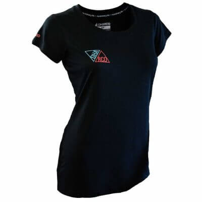DHaRCO Ladies Tech Tee Black Triangles