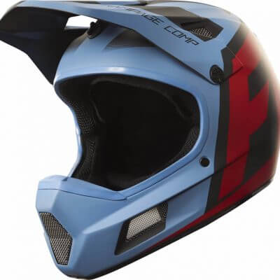 Fox Rampage Comp Fullface MTB Cycling Helmet Creo Blue Red