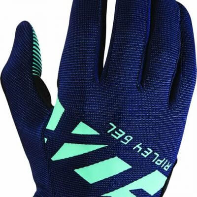Fox women's MTB cycling gloves - Ripley gel gloves navy and ice blue