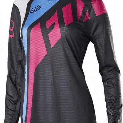 Fox women's MTB Flexair DH long sleeve jersey Black and Pink