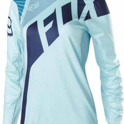 Fox women's MTB Flexair DH long sleeve jersey Ice Blue