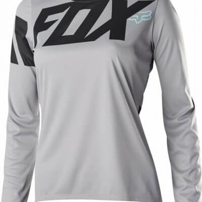 Fox women's MTB long sleeve cycling jersey - Fox Ripley, Grey