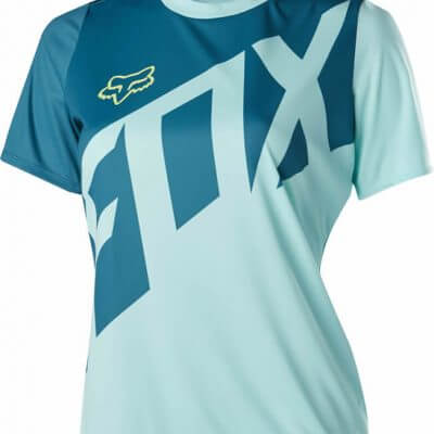Fox women's MTB short sleeve cycling jersey - Fox Ripley, Ice Blue