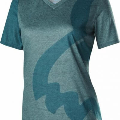 Fox women's MTB tech tee - indicator short sleeve cycling jersey - heather blue