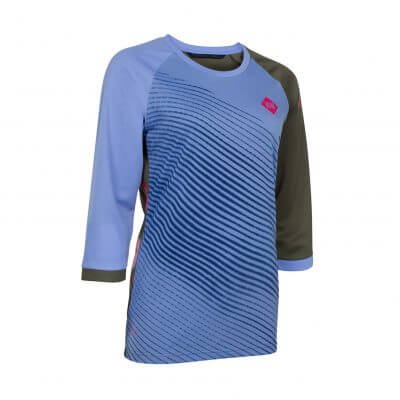 ION bike womens mtb 3/4 mid sleeve cycling jersey Scrub_AMP powder blue