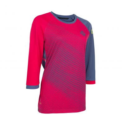 ION bike womens mtb 3/4 mid sleeve cycling jersey Scrub_AMP sunset pink