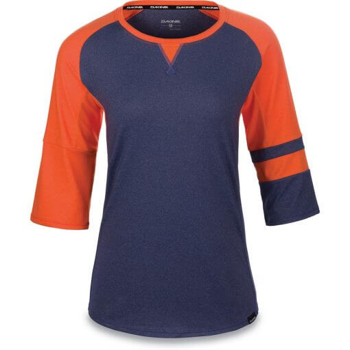 Dakine womens MTB three quarter sleeve jersey XENA Crown Blue and Coral