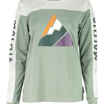 Maloja women's MTB freeride AlpenasterM long sleeve jersey glacier