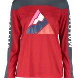 Maloja women's MTB freeride AlpenasterM long sleeve jersey red