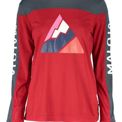 Maloja women's MTB freeride AlpenasterM long sleeve jersey red