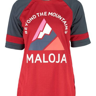 Maloja women's MTB freeride AlzM shorts sleeve jersey red