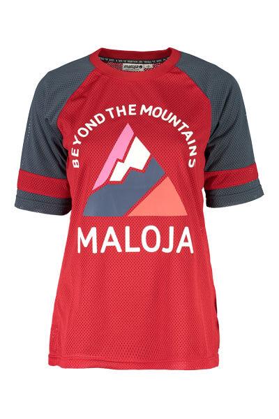 Maloja women's MTB freeride AlzM shorts sleeve jersey red