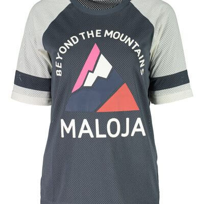 Maloja women's MTB freeride AlzM shorts sleeve jersey waterfall