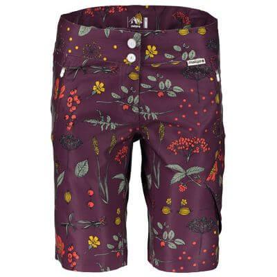 Maloja women's MTB shorts WeisskleeM plum