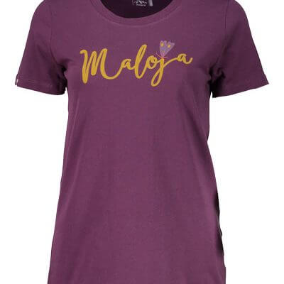 Maloja women's MTB tshirt HufeisenkleeM plum