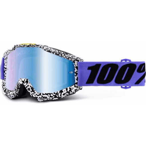100% Accuri MTB Goggles Brentwood with mirror blue lens
