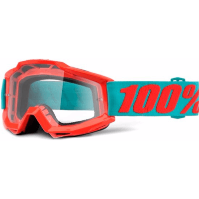 100% Accuri MTB Goggles Passion Orange with clear lens