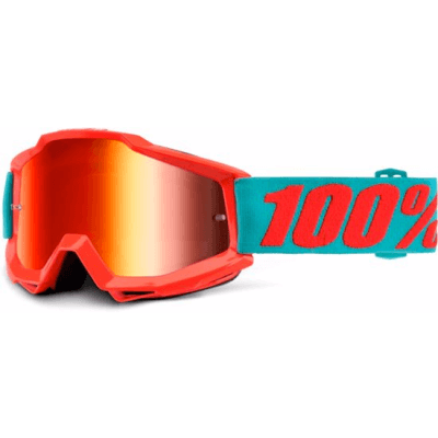 100% Accuri MTB Goggles Passion Orange with mirror red lens