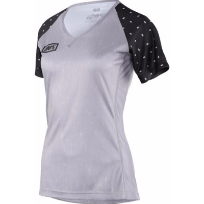 100% Women's MTB Airmatic Skylar Jersey - Grey Heather