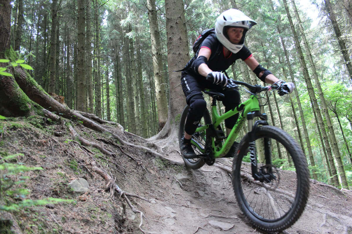 MTB Instruction - advanced skills - steep roots