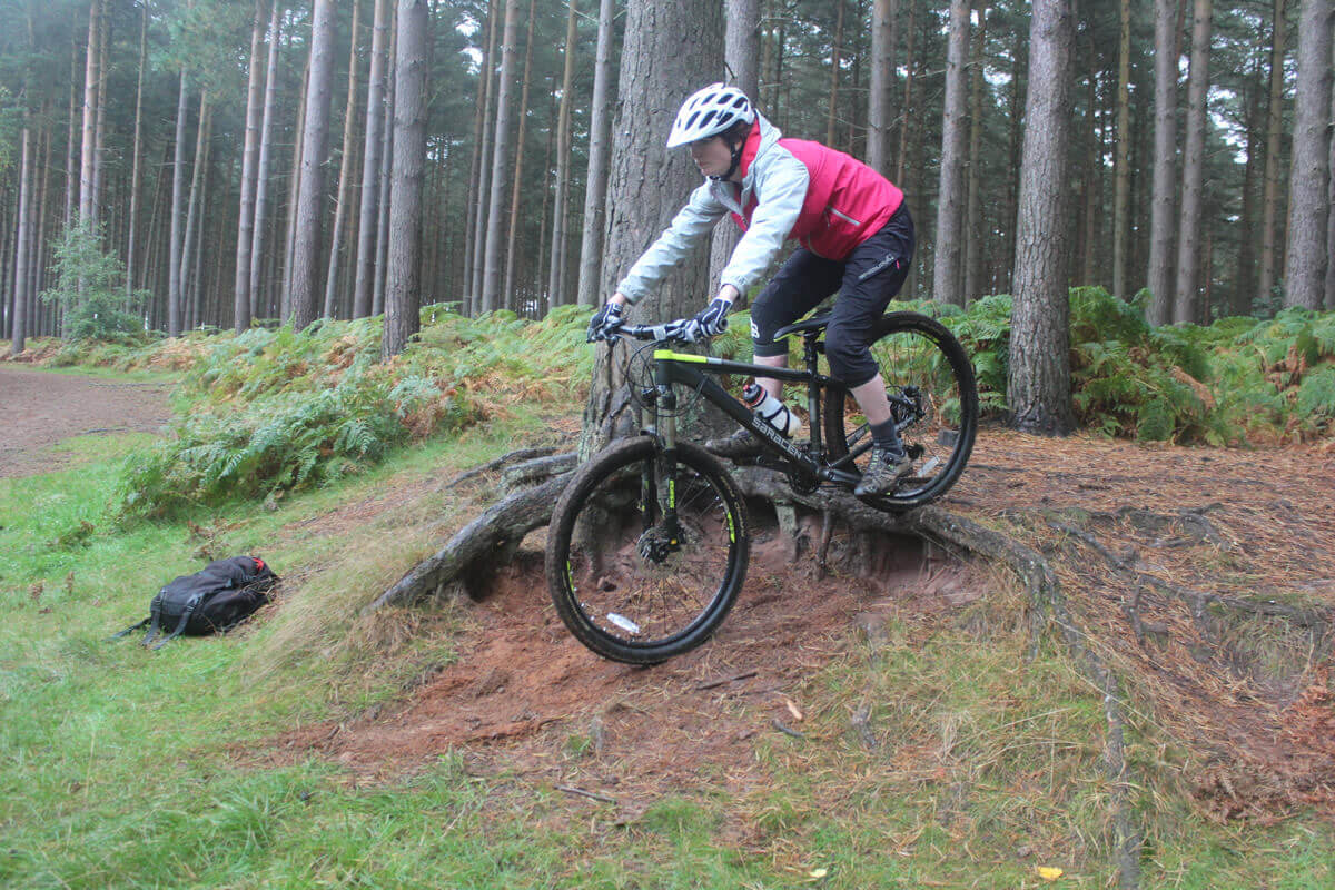 MTB Instruction - intro and intermediate skills - step down
