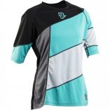 Raceface Khyber womens MTB jersey 3 quarter sleeve turquoise blue and black