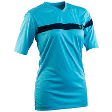 Raceface women's MTB charlie tech tee in blue