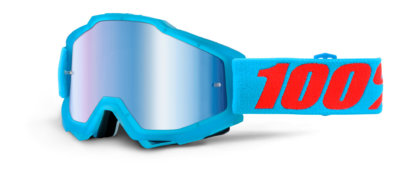 100% Accuri Goggles Acidulous Cyan Mirror Blue Lens