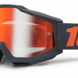 100% Accuri Goggles Gunmetal Mirror Red Lens