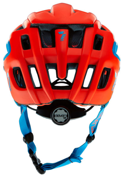 Seven iDP Enduro Helmet Matt Neon Red Back
