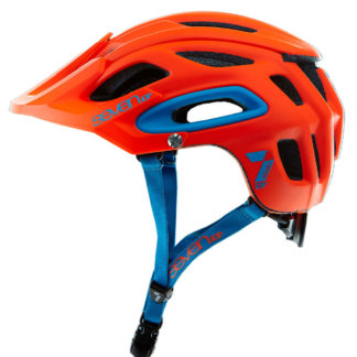 Seven iDP Enduro Helmet Matt Neon Red Side