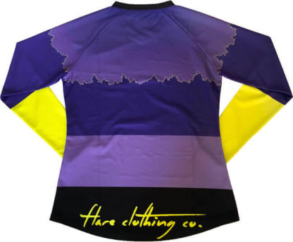 Flare Women's MTB Downhill Jersey Roost in Purple - Back