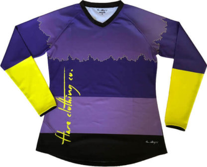 Flare Women's MTB Downhill Jersey Roost in Purple - Front