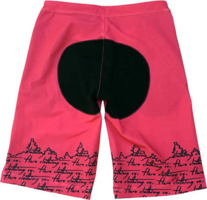 Flare Women's MTB Enduro Shorts Stage in Pink - Back