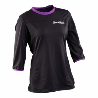 Raceface Womens MTB Khyber 3-4 Sleeve Jersey Black and Grape