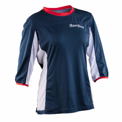 Raceface Womens MTB Khyber 3-4 Sleeve Jersey Navy and Flame