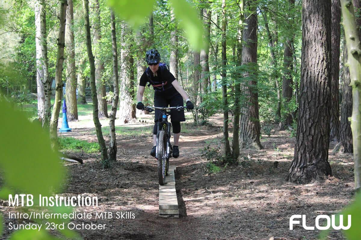 MTB Instruction and Flow MTB intro / intermediate mountain bike skills course