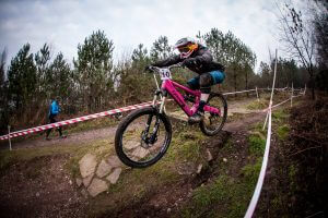 Flow MTB rider Kate Gries, Riders Guild January 2017 at Stile Cop