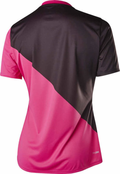 Fox women's MTB short sleeve cycling jersey - Fox Ripley, Fuschia Pink