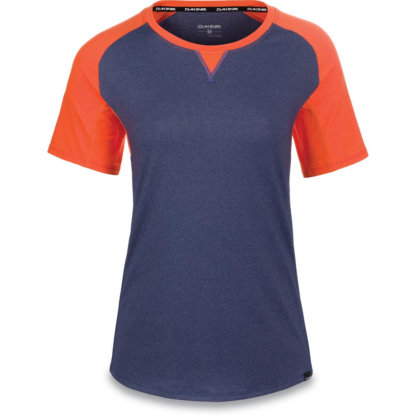 Dakine womens MTB short sleeve jersey XENA Crown Blue and Coral