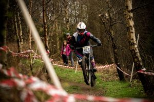 Flow MTB racer Rebecca Smith took 2nd place at Racers Guild winter series round 3