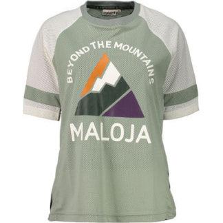 Maloja women's MTB freeride AlzM shorts sleeve jersey glacier
