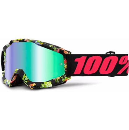 100% Accuri MTB Goggles Chapter 11 with mirror green lens
