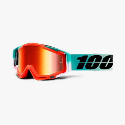 100% Racecraft MTB Goggles CUBICA with mirror red lens
