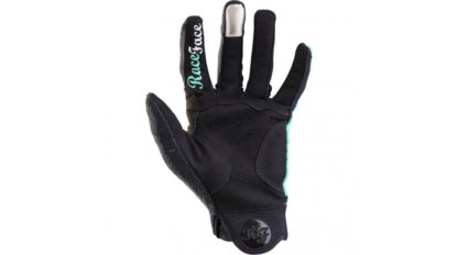 Raceface Khyber womens MTB gloves turquoise blue palm