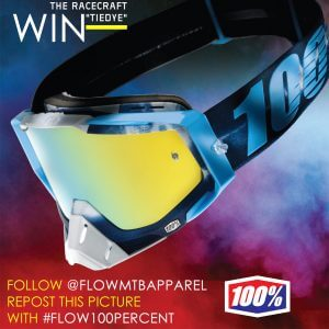 WIN a pair of 100% racecraft tiedye goggles